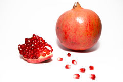 Pomegranate with seeds Royalty Free Stock Photography
