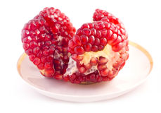 Pomegranate Seeds. The interior pulp of a pomegranate with the peel and membranes removed to leave the arils stock images