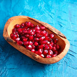 Pomegranate seeds in a bowl Stock Image