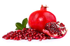 Pomegranate with seeds Stock Photo