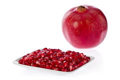 Pomegranate Seeds (Punica granatum) Stock Images