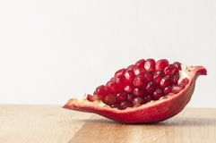 Pomegranate seeds (Punica granatum) Royalty Free Stock Image
