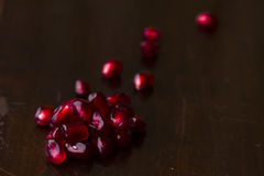 Pomegranate seeds Stock Image