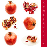 Pomegranate set Royalty Free Stock Photo