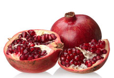 Pomegranate with slice Stock Images