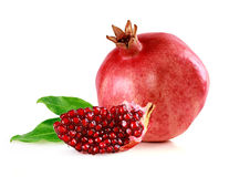 Pomegranate with slice Stock Photo