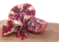 Pomegranate slices with seed Stock Photos