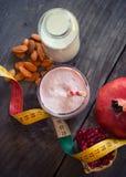 Pomegranate smoothie Stock Photo