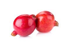 Pomegranate som isoleras på vitbakgrund Royaltyfria Foton
