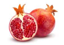 Pomegranate som isoleras på vitbakgrund Royaltyfria Bilder