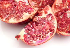 Pomegranate. Some pieces of a pomegranate Royalty Free Stock Photos