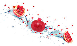 Pomegranate splash Royalty Free Stock Photo