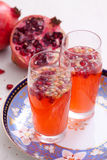 Pomegranate Spritzer Royalty Free Stock Photos