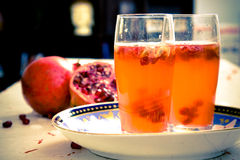 Pomegranate Spritzer Royalty Free Stock Photos