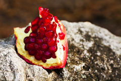Pomegranate on stone Royalty Free Stock Photo
