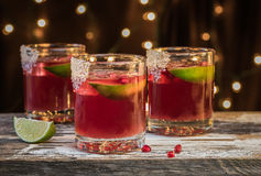 Pomegranate Sweet and Sour Beverage stock photo
