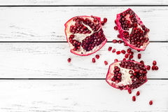 Pomegranate on table Stock Photography