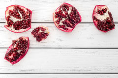 Pomegranate on table Royalty Free Stock Photography