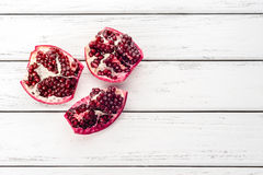 Pomegranate on table Stock Image