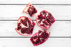 Pomegranate on table Royalty Free Stock Images