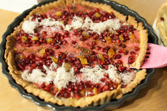 Pomegranate tart Stock Photography