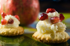Pomegranate tarts Royalty Free Stock Photo