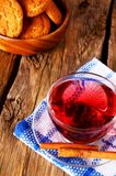 Pomegranate tea with Cookies. Royalty Free Stock Images