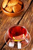Pomegranate tea with Cookies. Stock Photo