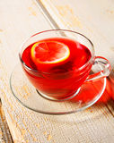 Pomegranate tea with lemon. Royalty Free Stock Photography
