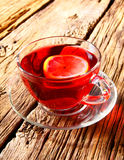 Pomegranate tea with lemon. Stock Photography