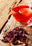 Pomegranate tea with lemon. Stock Photos