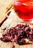 Pomegranate tea with lemon. Royalty Free Stock Images