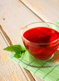 Pomegranate tea. Red tea. Stock Photos