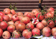 Pomegranate in traditional market Royalty Free Stock Photo
