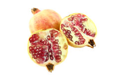 Pomegranate and two half Royalty Free Stock Images