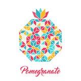 Pomegranate, vector geometric illustration. Stock Photo