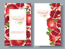 Pomegranate vertical round banners Stock Photo