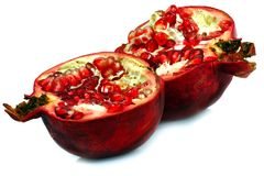 The pomegranate is vitamin. The red ripe pomegranate is useful to your health Royalty Free Stock Photography