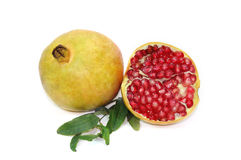 Pomegranate on white Royalty Free Stock Photo