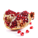 Pomegranate on a white Royalty Free Stock Photography