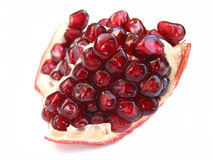 Pomegranate on white Royalty Free Stock Image