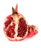 Pomegranate. On a white background stock image