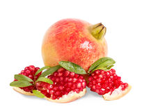 Pomegranate  on white background. With Clipping path Stock Image