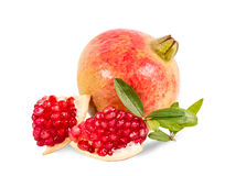 Pomegranate  on white background. With Clipping path Royalty Free Stock Photo