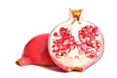 Pomegranate on white background Stock Photos