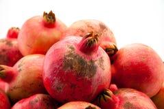 Pomegranate on the white background Royalty Free Stock Image