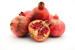Pomegranate on the white background Stock Photo