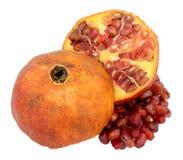 Pomegranate  On White Stock Images