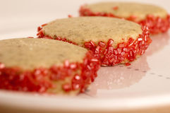 Pomegranate White Tea Cookies Royalty Free Stock Image