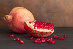 Pomegranate whole fruit still life royalty free stock photography
